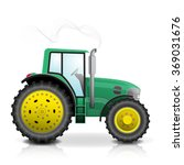 realistic green tractor icon ... | Shutterstock .eps vector #369031676