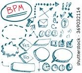 bpm elements vector work flow...   Shutterstock .eps vector #369032114