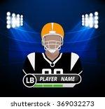 football player with spotlight | Shutterstock .eps vector #369032273