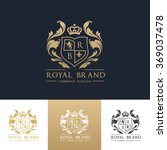 royal brand luxury crest logo... | Shutterstock .eps vector #369037478