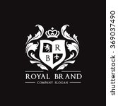 royal brand logo crown logo... | Shutterstock .eps vector #369037490
