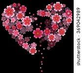 broken heart with 3d effect... | Shutterstock .eps vector #369042989