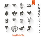 happy valentines day icons | Shutterstock . vector #369043190