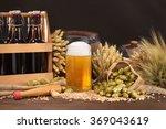 beer crate  beer barrel and...   Shutterstock . vector #369043619