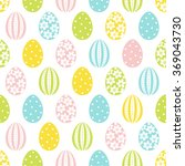 easter seamless pattern with... | Shutterstock .eps vector #369043730