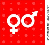 web line icon. gender symbol ... | Shutterstock .eps vector #369048794
