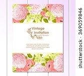 vintage delicate invitation... | Shutterstock .eps vector #369059846