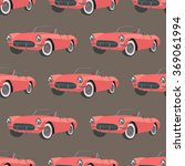 pattern with red  vintage sport ...   Shutterstock .eps vector #369061994