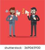 businessman argument war | Shutterstock .eps vector #369065930