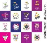 alcoholic cocktails logo | Shutterstock .eps vector #369069044