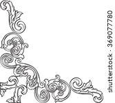 luxury art corner is isolated... | Shutterstock .eps vector #369077780