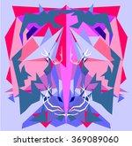 pattern of geometric elements...   Shutterstock .eps vector #369089060