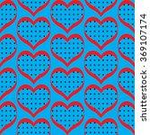 seamless polka dot hearts... | Shutterstock .eps vector #369107174