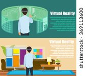 virtual reality. new... | Shutterstock .eps vector #369113600
