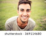 young man portrait while... | Shutterstock . vector #369114680