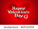 red bload heart valentines day... | Shutterstock . vector #369123554