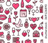 valentines day seamless pattern ... | Shutterstock .eps vector #369126890