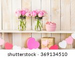 Bouquet With Pink Roses In...