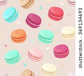 realistic macaroons colorful... | Shutterstock .eps vector #369134693