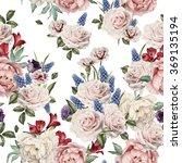 seamless floral pattern with... | Shutterstock . vector #369135194