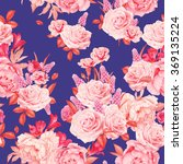 seamless floral pattern with... | Shutterstock . vector #369135224