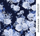 seamless floral pattern with... | Shutterstock . vector #369135239