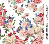 seamless floral pattern with... | Shutterstock . vector #369135314
