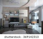 minimalism sitting room  3d... | Shutterstock . vector #369142313