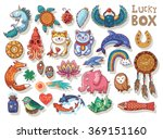 Stock vector set of the lucky charms vector illustration 369151160