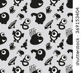 Seamless Pattern With Monsters...