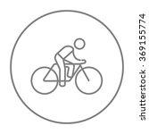 man riding  bike line icon. | Shutterstock .eps vector #369155774