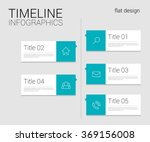 timeline infographics template | Shutterstock .eps vector #369156008