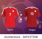 soccer t shirts of austria and... | Shutterstock .eps vector #369157208