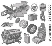 car parts icons set isometric... | Shutterstock .eps vector #369157220