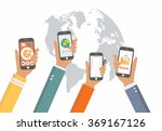 mobile applications concept.... | Shutterstock .eps vector #369167126