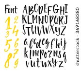 vector alphabet. hand drawn... | Shutterstock .eps vector #369168380