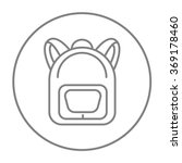 backpack line icon.