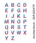 abstract font  letters are made ... | Shutterstock .eps vector #369183479