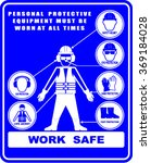 work safety  sign vector | Shutterstock .eps vector #369184028