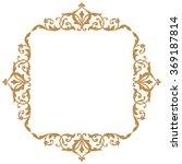 premium gold vintage baroque...   Shutterstock .eps vector #369187814