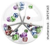 3d rendering of lottery machine ... | Shutterstock . vector #36919165