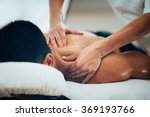 sports massage. massage... | Shutterstock . vector #369193766