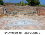 Small photo of Archaic Roman era mosaic found at ancient Dion of Greece