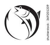 symbol tuna and hook  vector | Shutterstock .eps vector #369201209