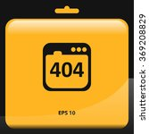 404 not found error icon.... | Shutterstock .eps vector #369208829