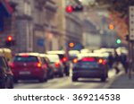 road with cars in traffic rush | Shutterstock . vector #369214538