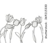 vector floral seamless... | Shutterstock .eps vector #369215330