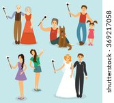 set of people photographed with ...   Shutterstock .eps vector #369217058
