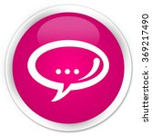 chat icon pink glossy round...