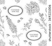 vector hand drawn seamless... | Shutterstock .eps vector #369221006